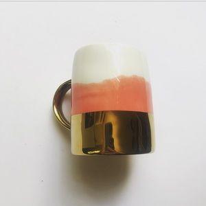 Anthropologie Pink Gold Mug
